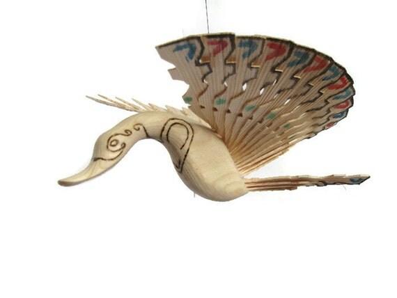 Wooden Fan Birds Beautiful Colorful Bedroom D 233 Cor By