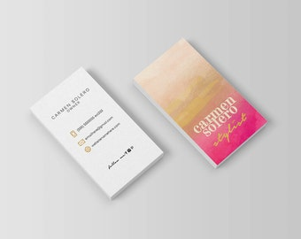 Floria double sided business card Instant by deideigraphic