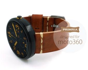 moto 360 / 1st Gen / Handmade Leather Straps