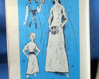 Vintage 1970s style Wedding Dress Sewing Pattern