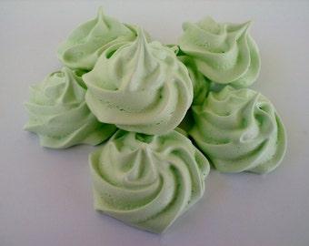 2 Dozen Light Green French Meringue Cookies You choose flavor