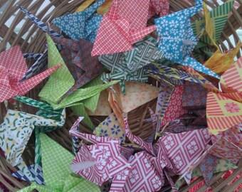 Origami Paper Crane Suncatcher