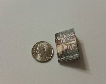 "Miniature Book 1"" Walking Dead Comic Book many covers available"