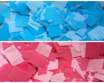 Gender Reveal Balloon Confetti - Over 2,000 pieces of handmade confetti in pink and/or blue