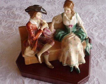 "Rare Royal Doulton, England 1930's ""The Rustic Swain"" Figurine by Designer Leslie Harradine HN1745.. Free usa Shipping"
