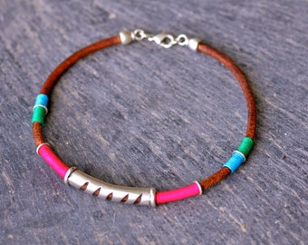 Ethnic Spanish leather Choker