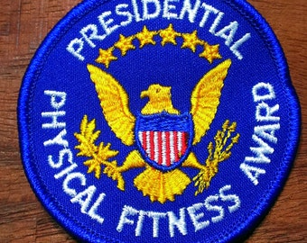 Vintage Presidential Physical Fitness Award Embroidered Patch