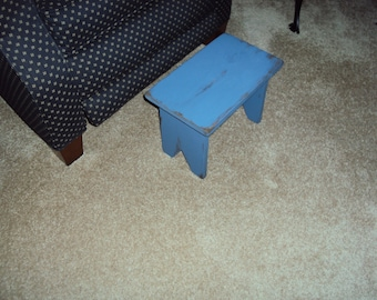 Handmade Primitive Rustic Bench / Stool with Choice of Color and Finish