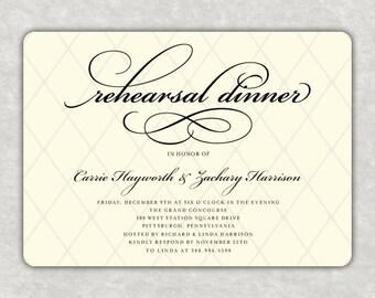Elegant, Rehearsal Dinner DIY, Printable, Customizable