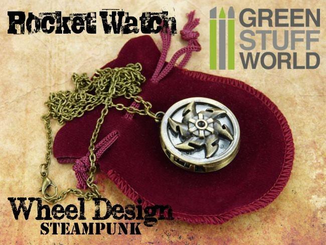 Retro SteamPunk Pocketwatch Windmill WHEEL design - Vintage watch *** includes pouch *** steampunk buy now online