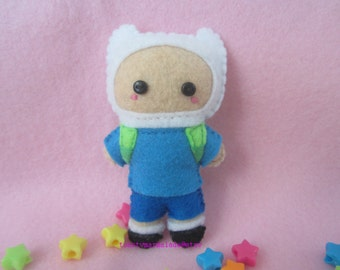 Miniature Finn the Human Plush Doll (Adventure Time)