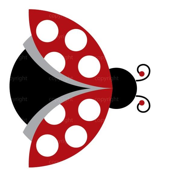 Ladybug Clipart Commercial Use Whimsical by ShannaRiehlArtShoppe