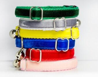 Australian Made  / Velvet Cat or Small Dog Collar /Teacup Dog Collar / Velvet Cat Collar