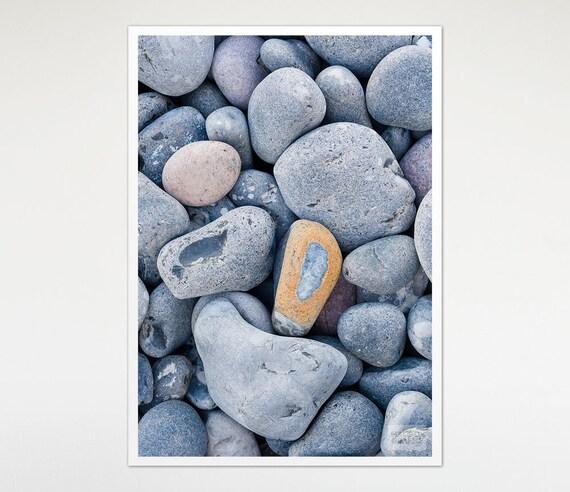 Pebbles Texture Print Art, Beach House Decor, Nature Photography, Stones Wall Art, Photo Print