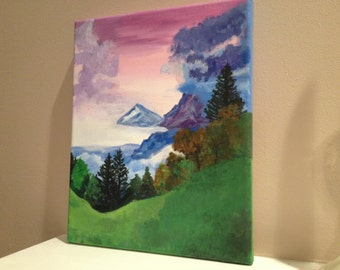 Mountain Side Landscape Painting