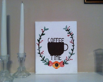 Coffe Time Canvas Painting