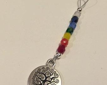 Tree of Life Rainbow Chakra Pendant