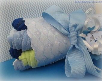Baby Washcloth Bouquet, Baby Shower Gift