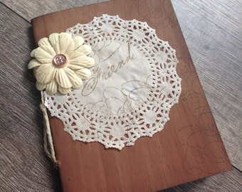Rustic Notebook-womens gift-Diary-Rustic Journal-Vintage Journal-