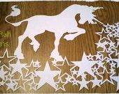 Unicorn Paper Cutting Template *PERSONAL USE*
