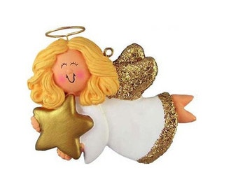 Angel (Female - Blond, Brunette, African-American) Personalized, Color