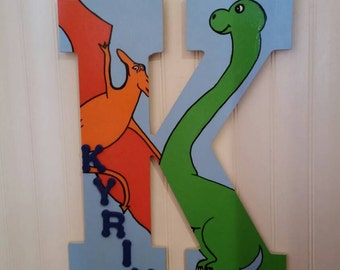 "13"" dinosaur nursery letter"