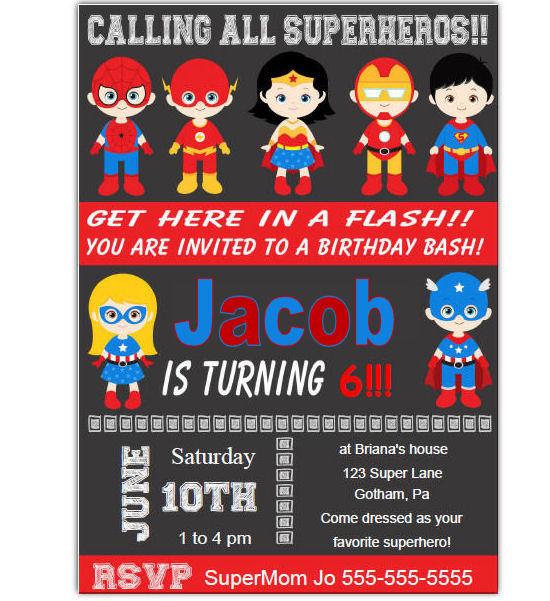 ... Birthday Party Invitation for Kids Boy Invitation Free Thank You Note