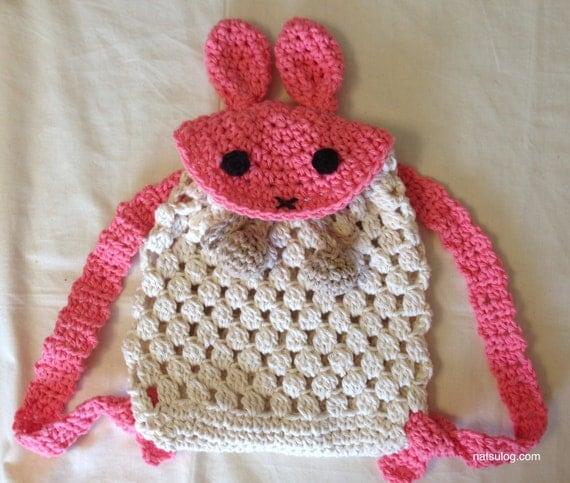 Crochet backpack pattern, Crochet easter bunny backpack ...