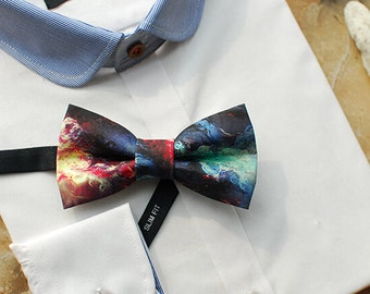 Fire Bowtie - Modern Boys Bowtie, Toddler Bowtie Toddler Bow tie,Pre Tied and Adjustable