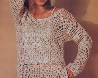 Handmade crochet dress tunic jumper women crochet clothes MADE TO ORDER