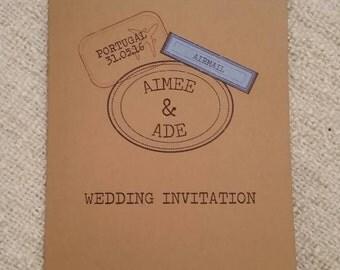 Wedding Passport Invitation with RSVP