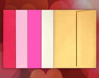 25 A7 Envelopes VALENTINE DAY Color Mix for 5x7 DIY Blanks - Cards Invitations Announcements Parties with Square Style Flap Good Quality