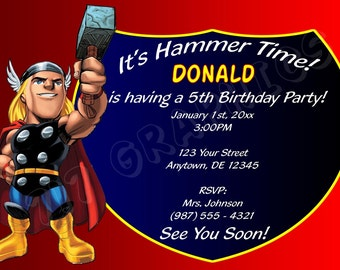 Thor Birthday Invitation - Printable