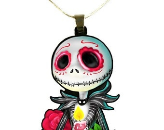 Nightmare Before Christmas Jack Skellington Day of the Dead Necklace