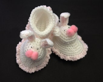 Baby Bunny Booties Crochet Pattern PDF Digital Download