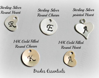 Adds on initials, Custom Initials, Sterling Silver, 14K Gold filled