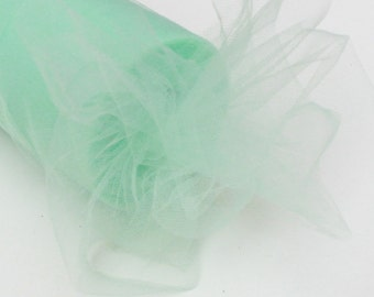 Mint tulle roll - 6 inches - 100 yard - Mint rolls - Mint tulle spool - tulle roll mint - Mint fabric - light green tulle roll