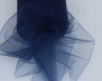 Navy Blue tulle roll - 6 inches - 100 yard - Navy Blue tulle spool - navy tulle rolls - navy blue party decor