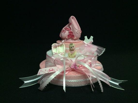 ballerina baby shower cake topper centerpiece decoration cold