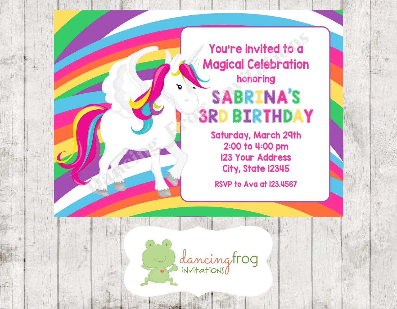 Rainbow Birthday Invitation with luxury invitations example