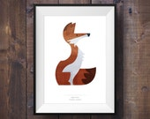 Red Fox Print - Art Print - Signed Canadian Wildlife Series - Canada 150
