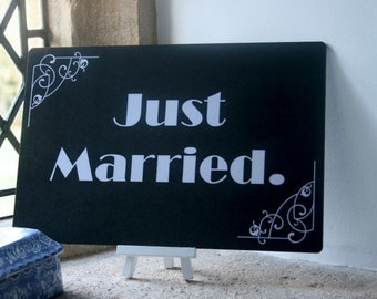 "Silent Film Board and Photo Booth Prop ""Just Married"" 013-467"