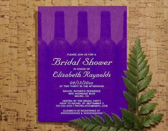elegant wine bottles bridal shower invitation by invitationsnob. Black Bedroom Furniture Sets. Home Design Ideas