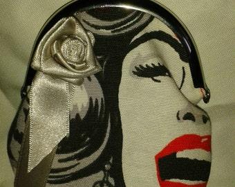Handmade coin purse 1950s marilyn