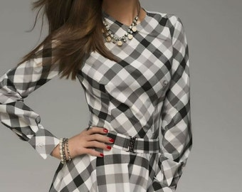 Simple Maxi Dress Woman,Spring Long Sleeve Country Style Dress Flared.