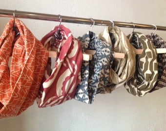 Organic Cotton Jersey Infinity Scarf (Contentment Collection)-MADE TO ORDER