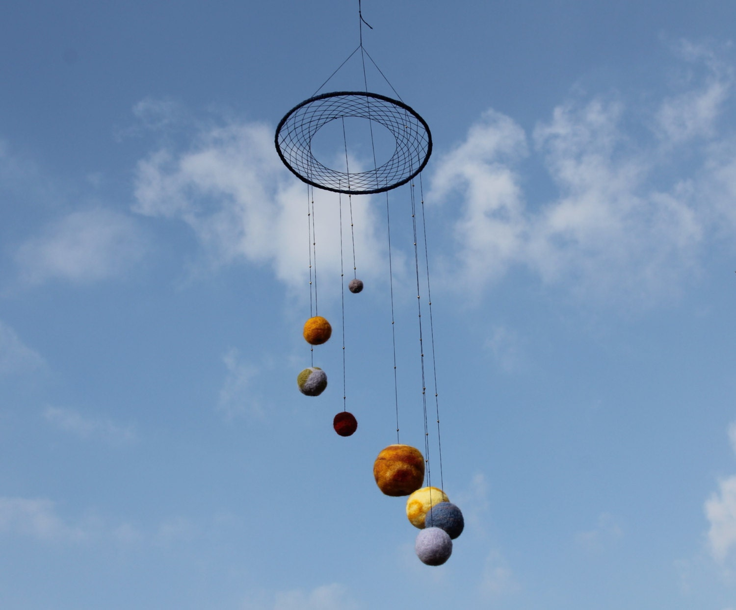 Needle Felted Solar System Mobile Giant Universe Baby Mobile