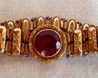 Antique Faux Ruby Bracelet - 1906
