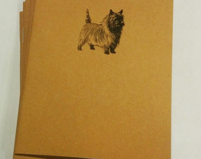 Cairn Terrier Notebook - diary, journal, party favors, multipack, custom printing included puppy dog wizard of oz notebook puppies book