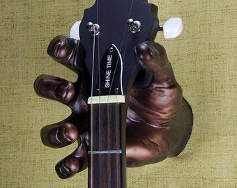Antique Finish- Copper hand guitar hanger/guitar wall mount/GuitarGrip